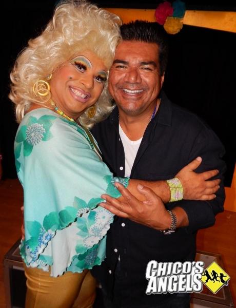 George Lopez with Frieda Laye Photo
