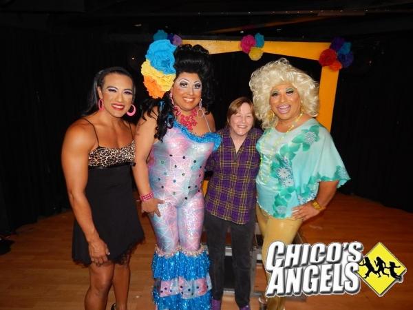Geri Jewell with Chita Parole, Kay Sedia, and Frieda Laye