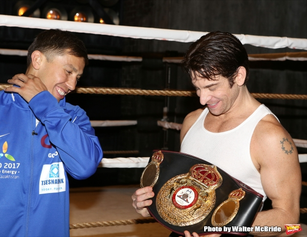 Photo Coverage: Backstage with Gennady Golovkin & Michael Buffer at ROCKY!