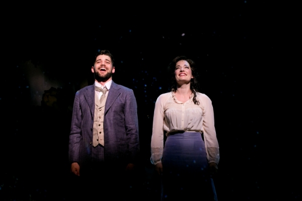 Jeremy Jordan and Laura Michelle Kelly