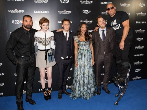 Photo Flash: First Look - Zaldana, Pratt & More at GUARDIANS OF THE GALAXY London Premiere