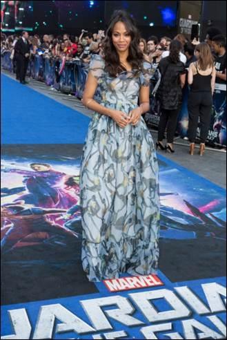 Photo Flash: First Look - Zaldana, Pratt & More at GUARDIANS OF THE GALAXY London Premiere