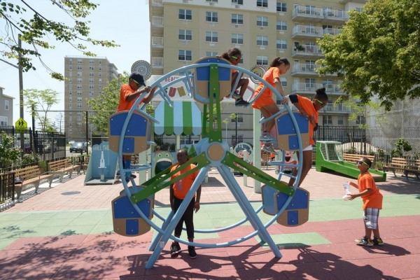 NYC Parks Opens New $1.25M Amusement Park-Themed Playground in Rockaway