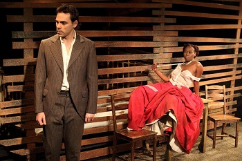 Marcel Meyer as Eben and Mbali Bloom as Abbie in DESIRE UNDER THE ELMS Photo Credit Pat Bromilow Downing