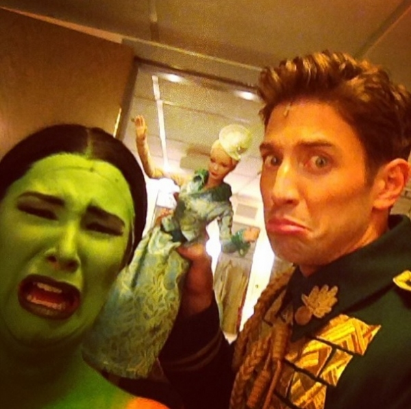 Photo Flash: Saturday Intermission Pics, Part 2 - 7/26 - National Tour of WICKED Says Farewell to Glinda, and More!