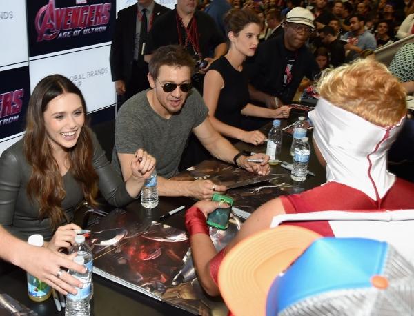 Elizabeth Olsen;Jeremy Renner;Cobie Smulders;Samuel L. Jackson