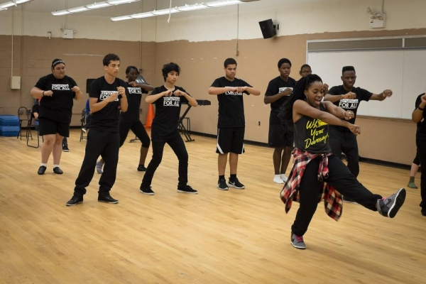 Faculty member Kristolyn Lloyd (Heathers: The Musical) teaches a dance combination to Ariana Grande's ''Problem''.