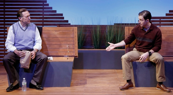 A scene from The Mulberry Bush by Neil Labute, directed by Maria Mileaf with Victor Slezak and J.J. Kandel