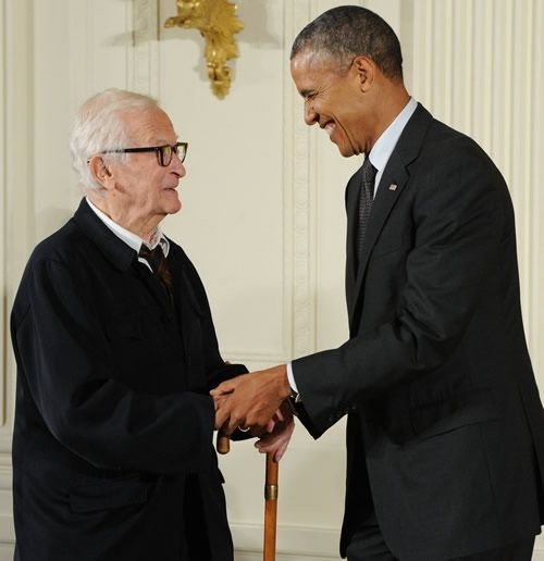 Albert Maysles and President Barack Obama Photo