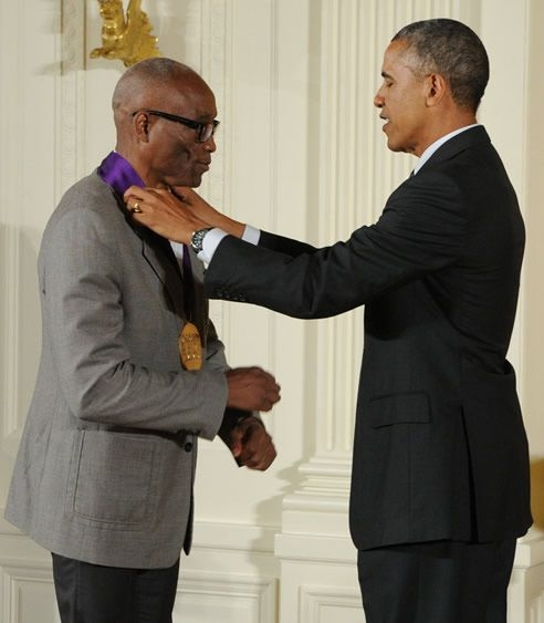 Bill T. Jones and President Barack Obama