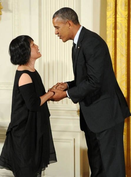 Billie Tsien and President Barack Obama