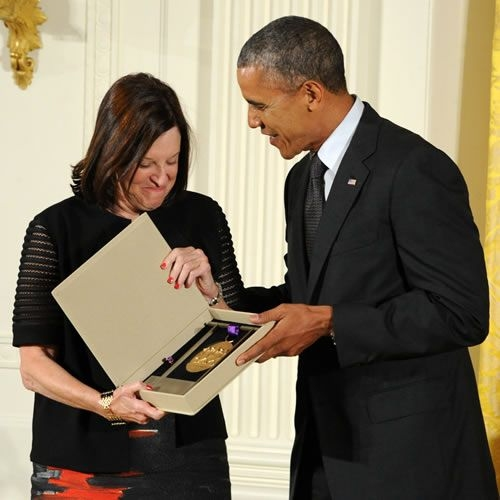 Karen Brooks Hopkins and President Barack Obama