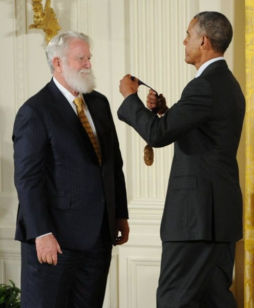 James Turrell and President Barack Obama