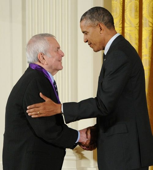 John Kander and President Barack Obama