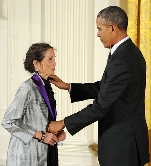 Julia Alvarez and President Barack Obama
