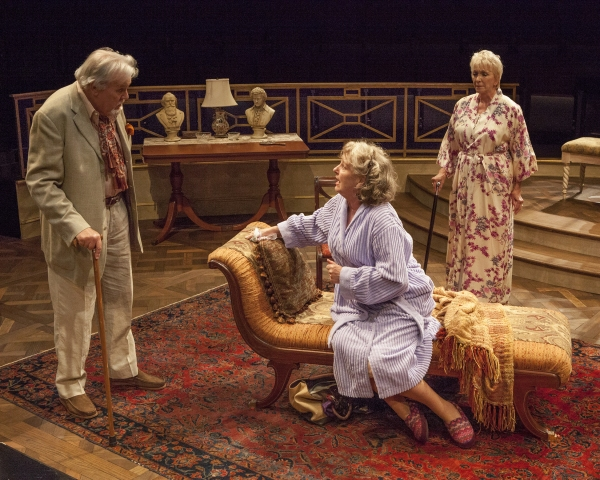 Roger Forbes as Wilfred Bond, Jill Tanner as Cecily Robson, and Elizabeth Franz as Je Photo