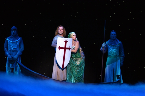 Lucas Fedele, Tyler Hanes as Sir Galahad, Elizabeth Stanley as The Lady of the Lake and Will Porter