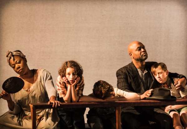 Michele Austin, Izzy Lee, Adam Scotland, Joe Speare and Harry Bennett as Calpurnia, S Photo