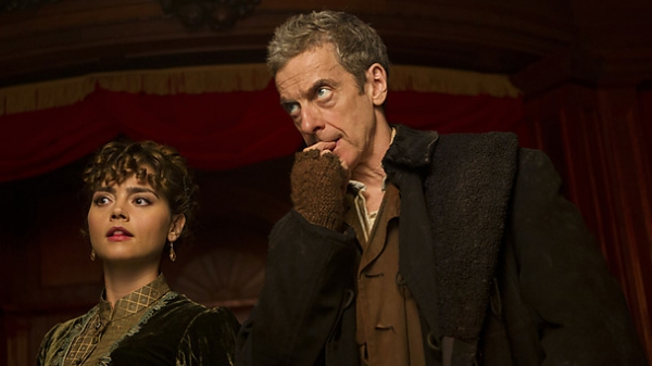 **Embargoed for publication until 7 July  2014**Picture shows: Clara ( JENNA COLEMAN) and The Doctor (PETER CAPALDI).