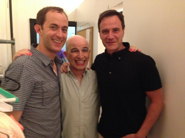 Michael Keyloun, Everett Quinton and Tim DeKay. Photo by Michael Palmer.