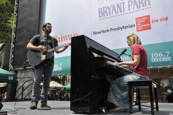 Photo Coverage: Casts of GENTLEMAN'S GUIDE, HEATHERS and More Visit Broadway in Bryant Park!