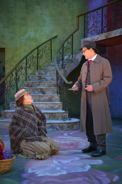 Irene Lucio as Eliza Doolittle and Anthony Fusco as Henry Higgins