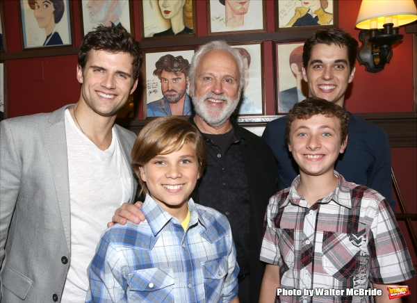 Kyle Dean Massey and John Rubinstein with cast members