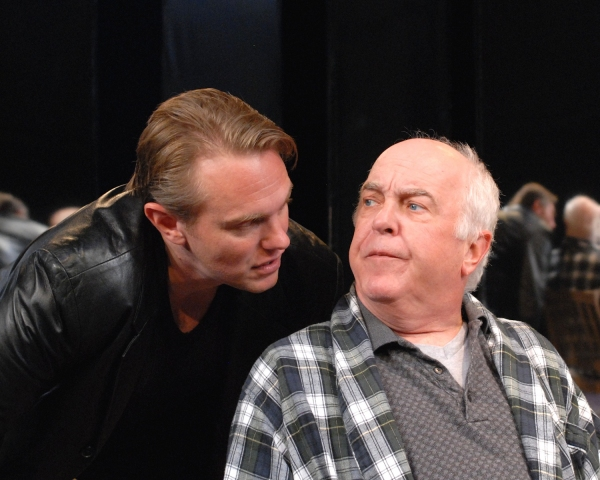 Jay Stratton (Bernard 2) and Larry John Myers (Salter) Photo
