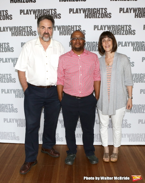 Playwrights Horizons Artistic Director Tim Sanford, playwright/director Robert O''Hara  and Managing Director Leslie Marcus
