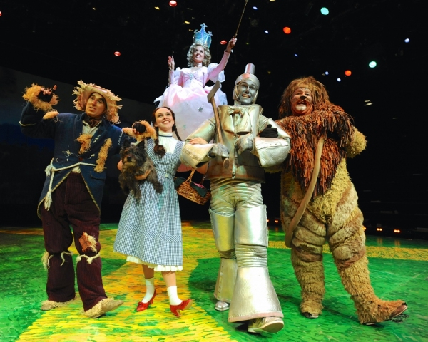 Tim Dolan (scarecrow), Devon Perry (Dorothy),  Michelle Dawson ( Glinda) Chris Kind (tin man), Jayson Elliott