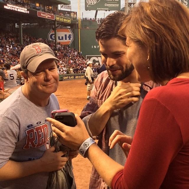 Behind The Scenes Of Jeremy Jordan Singing National Anthem At Fenway Park