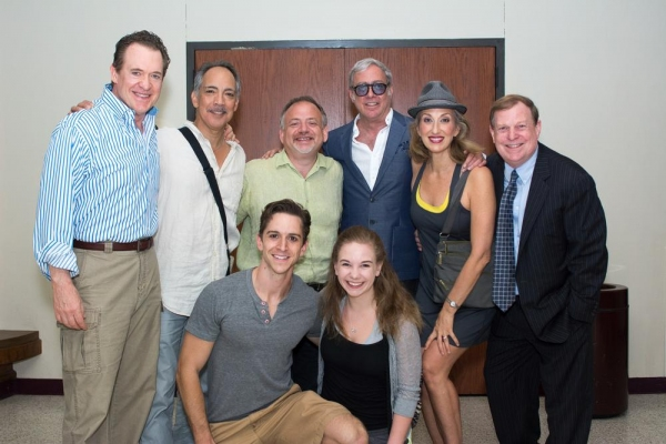"Songwriters visit Music Theatre Wichita's ""Catch Me If You Can."" Left to right, David Hess (Frank Sr.), Thom Sesma (Carl Hanratty), Marc Shaiman (composer, co-lyricist), Scott Wittman (co-lyricist), Paula Leggett Chase (Paula Abagnale), Wayne Bryan"