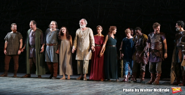Photo Coverage: John Lithgow, Annette Bening and Cast of KING LEAR Take Opening Night Bows in the Park!