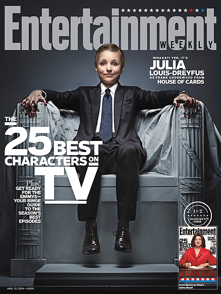 Julia Louis-Dreyful & Kevin Spacey Have a True 'Role Reversal' for Cover of EW!