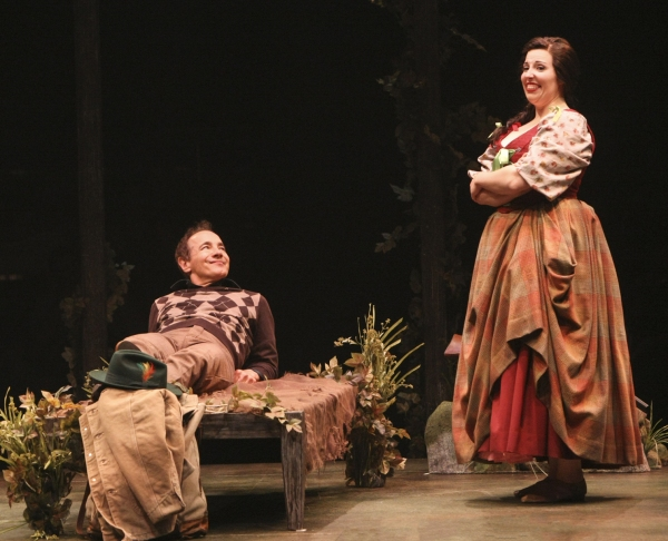 Jason Graae (Jeff Douglas) and Tory Ross (Meg Brockie)