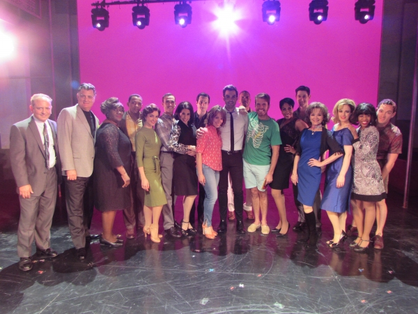 Photo Flash: Perez Hilton Visits Cast of PIECE OF MY HEART