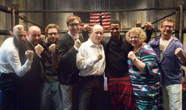 Mike Durst (lights), John Tovar (fight director), Joe Court (sound), Brett Neveu (playwright), Guy Van Swearingen, Kamal Angelo Bolden, Karen Kessler (director, and Joey Wade (set)