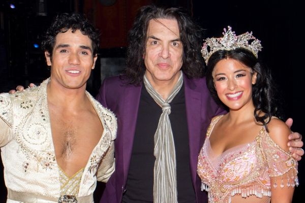Adam Jacobs, Paul Stanley, Courtney Reed Photo