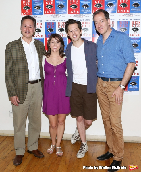 Kevin Pariseau, Alli Mauzey, Josh Grisetti and director Ted Sperling attends the ''Red Eye of Love'' Meet & Greet at Studio353 on August 7, 2014 in New York City.