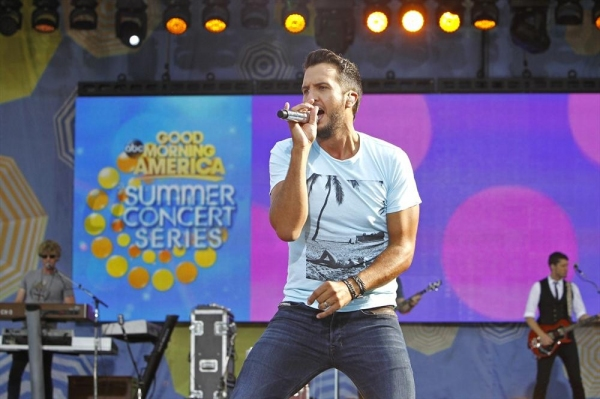 GOOD MORNING AMERICA - Luke Bryan performs live from Central Park as part of the Summer Concert Series on ''Good Morning America,'' 8/4/14, airing on the ABC Television Network.(ABC/ Lou Rocco)LUKE BRYAN