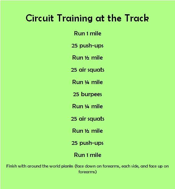 Circuit Training Combining Cardiovacular Work With Weight: BWW Finding Fitness Blog: Taking It Outside