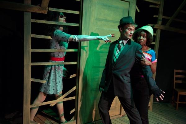 Ryan Lanning as Other Mother, Kevin Webb as Cat, Sheridan Singleton as Coraline.