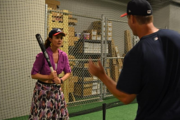 Photo Flash: Will Swenson & BULL DURHAM Cast Get Baseball Training from Braves Triple A Team