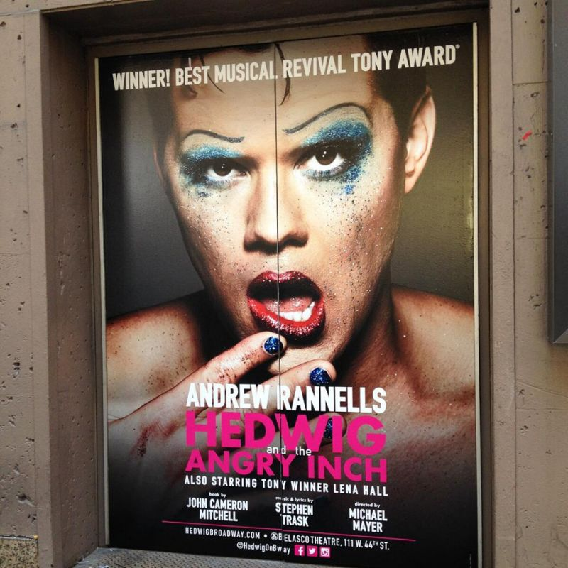 New Art For Andrew Rannells In HEDWIG & THE ANGRY INCH Installed At Belasco