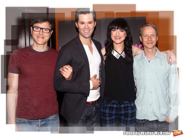 FREEZE FRAME: HEDWIG's Andrew Rannells Meets the Press Alongside Tony Winner Lena Hall, John Cameron Mitchell & Stephen Trask