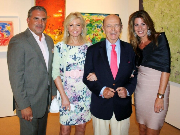 Nick Korniloff, Hilary and Wilbur Ross, Pamela Cohen Photo