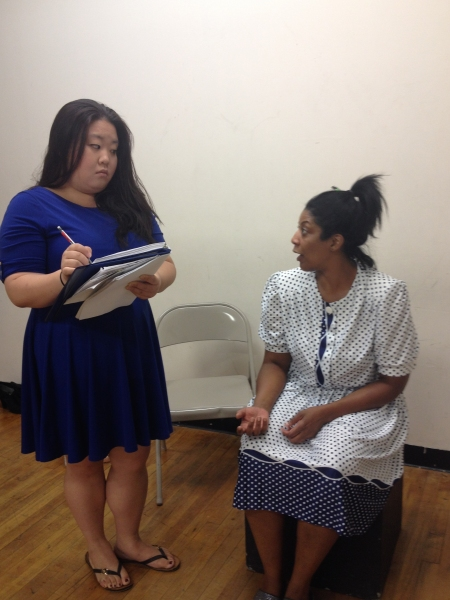 Somie Pak as The Nurse with Suzanne Froix as Billie Holiday. Photo