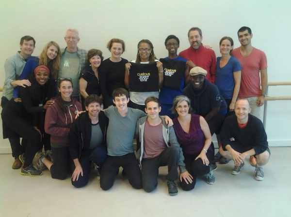 Front Row, left to right: Tim Wright, Alex Sharp, Taylor Trensch, Mercedes Herrero, Richard Hollis; Middle row, kneeling, left to right: Keren Dukes, Stephanie Roth Haberle, Jocelyn Bioh; Back row, left to right: Tom Patrick Stephens, Katy Rud