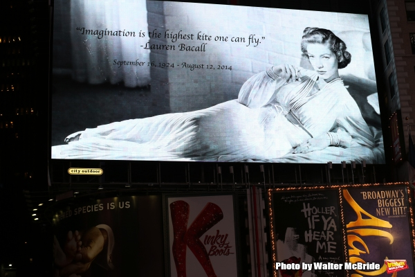 Photo Coverage: Times Square Honors Lauren Bacall