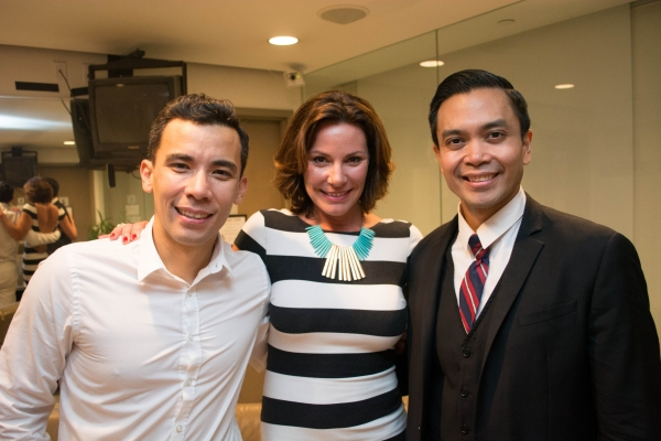 Countess Luann de Lesseps with Conrad Ricamora and Jose Llana